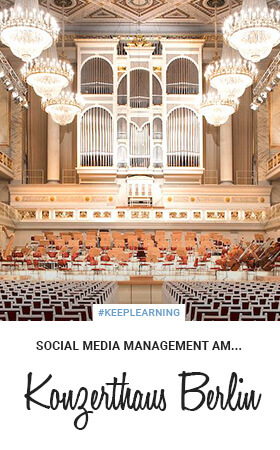 Social Media Management am Konzerthaus Berlin.